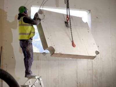 ניסור בטון לפתח של חלון גדול