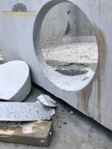 קידוח בקיר בטון לצורך העברת תשתית בשכונת פלורנטין שבל אביב
