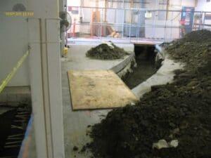 ביצוע חציבה בבטון לצורך העברת תשתית וצנרת