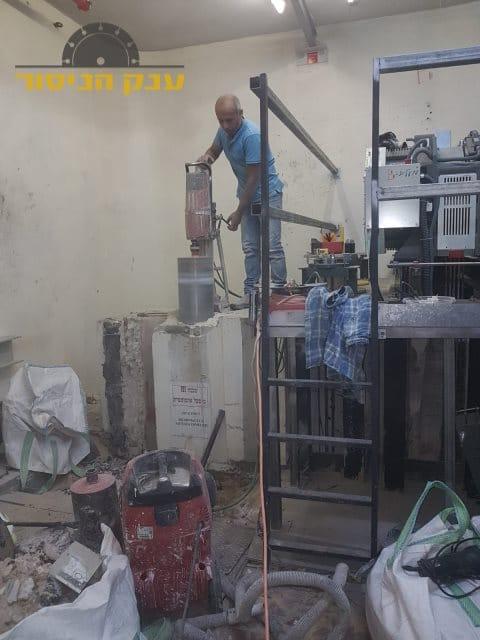 ביצוע קידוח בבטון בעסק ברמת גן בשכונת רמת עמידר