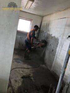 ניסור קיר בטון לצורך פתיחת דלת